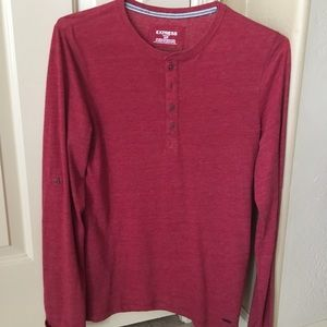 Long sleeve Henley. Express. Very Clean. Small.
